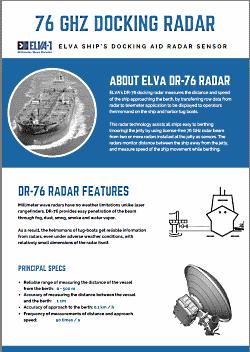 76 GHz docking assistance radar by ELVA-1