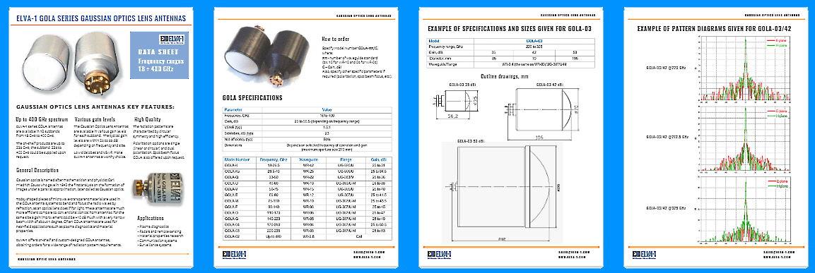 Download Gaussian Optics Lens Antennas by ELVA-1 datasheet