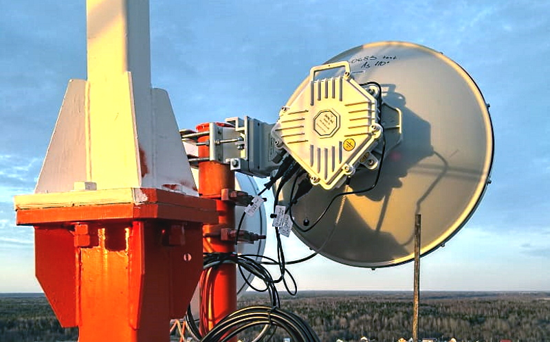 PPC-10G-E radio installed on MTS towers at an altitude of about 50 m, the length of the wireless path was 19,482 m (12.1 miles)