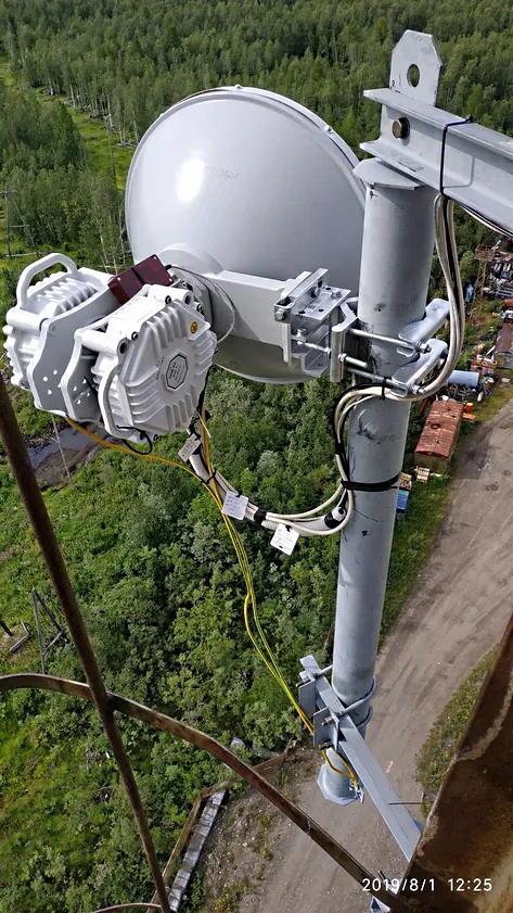 ELVA-1 PPC-10G-E/2+0 20Gbps radio in Siberia