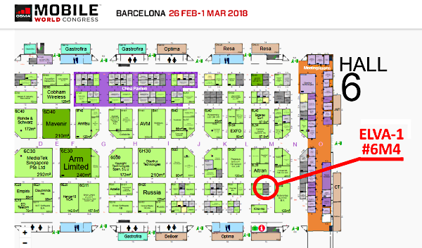 ELVA team invites you to MWC2018, Barcelona 26 Feb – 1 Mar 2018, Stand 6M4 at Hall 6.