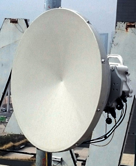PPC-10G 10 Gbps Link on roof of Marcatel office in Monterrey, Mexico