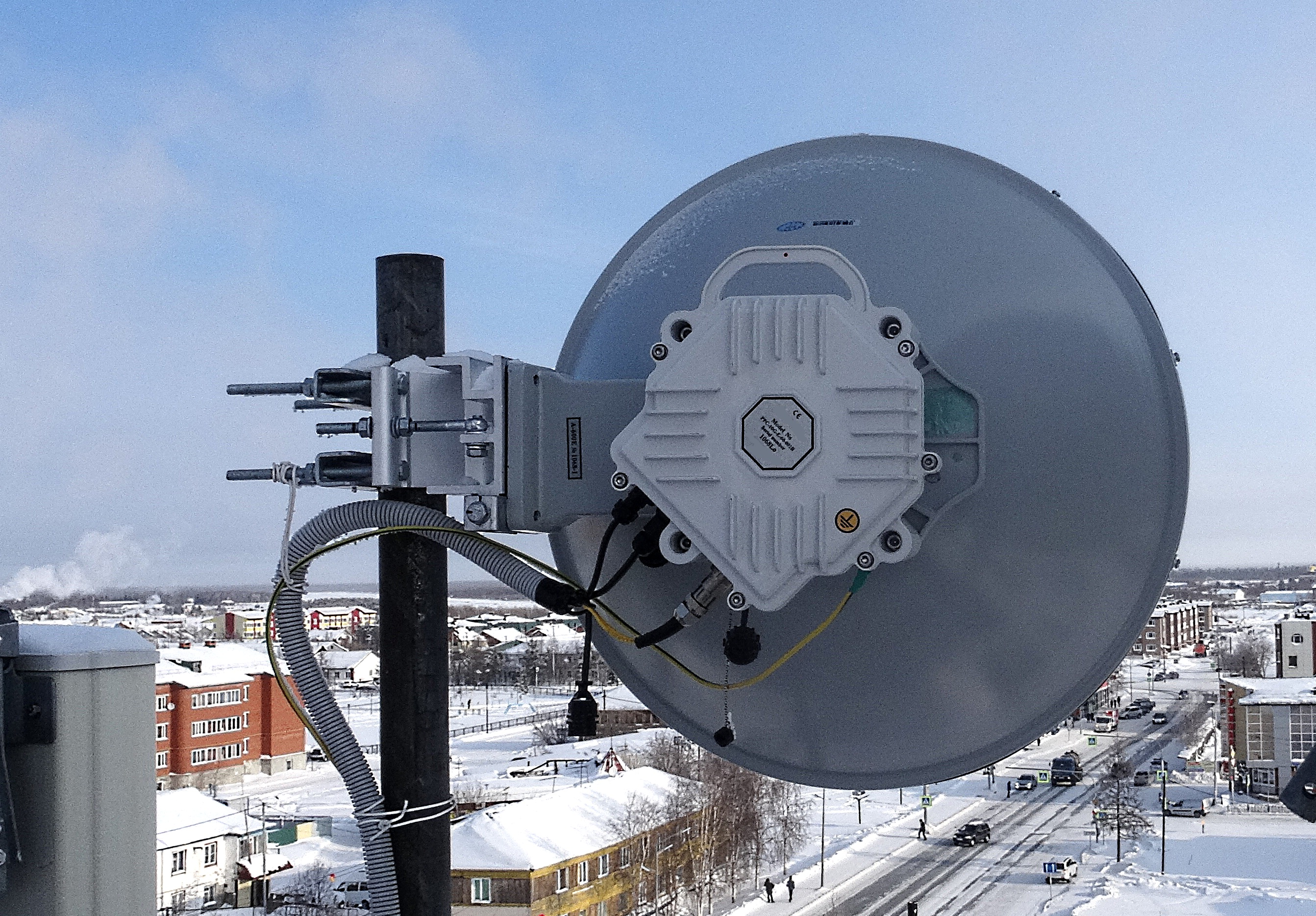 PPC-10G-E Radio installed at 15 km Trace for NOVATEK in Northern Siberia