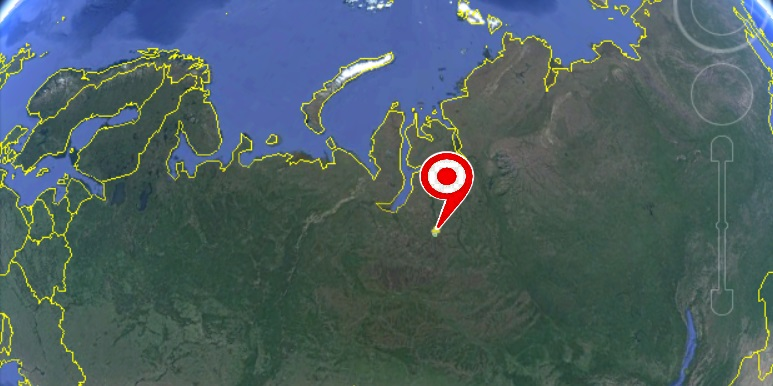 Map with PPC-10G-E Radio installation point in Siberia