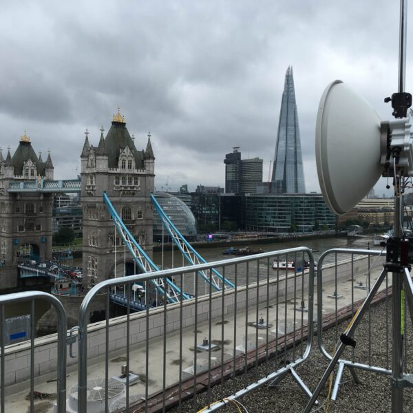 10Gbps in Air over River Thames